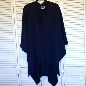 Lands' End Poncho Cape, Navy, One Size